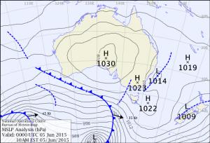 Weather Map Friday 5 Jun 15